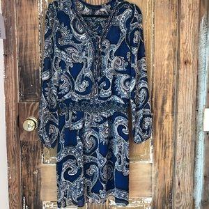 White House Black Market Blouson Dress